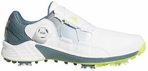 adidas ZG21 BOA Golf Shoes FW5554 White/Yellow/Blue Men's New - Choose Size