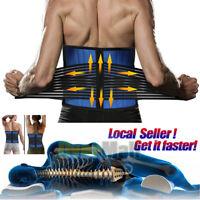 Adjustable Lumbar Support Lower Waist Back Belt Brace Pain Relief For Men Women