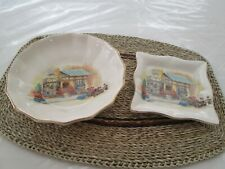 Vintage Lancaster and Sandland The Posy Shop Plate & Bowl - Hanley England
