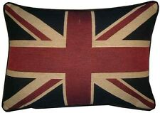 Union Jack Flag Traditional Style Oblong Woven Tapestry Cushion Cover
