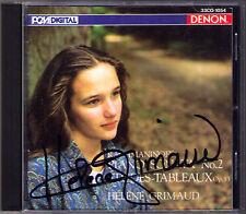 Helene GRIMAUD Signed RACHMANINOV Piano Sonata 2 DENON JAPAN CD Etudes-Tableaux