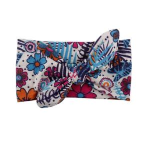 Cotton Elastic Hairband Spring/Summer Colors Stretch Turban Flower Baby Headband