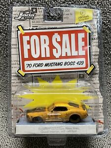 Jada ~ For Sale ~ '70 1970 Ford Mustang Boss 429 ~ Rusty Yellow ~ 1:64 Die Cast