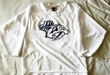 Nashville Jr Predators White Throwback Minor League Hockey Jersey Small