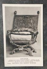 Vintage V&A Museum Postcard Armchair Victoria & Albert London