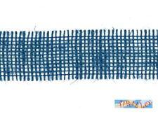 MERCERIA - 15 metri di nastro di juta altezza  4,5 centimetri - Blu