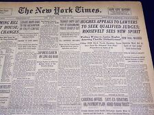 1938 MAY 13 NEW YORK TIMES - HUGHES APPEALS TO LAWYERS FOR JUDGES - NT 2415