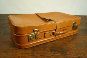 50er Vintage Suitcase Classic Car Travel Cases Retro Case Weekender Leather 12