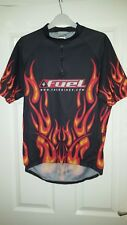 Mens Cycling Jersey Shirt - Trek Bikes Bicycles - Fuel - Black + Orange Flames