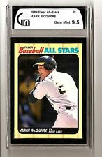 Mark McGwire Oakland A's 1989 Fleer Baseball All Stars #29 GAI Gem Mint 9.5