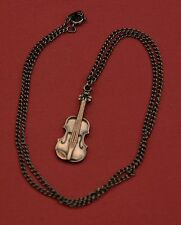 Violin on a chain Necklace, New