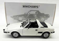 Minichamps 1/18 Diecast - 100 121664 Fiat X1/9 1975 White Model Car
