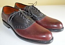 Allen Edmonds Shelton Saddle Oxford Shoes Size US 9.5 AA Extra Narrow