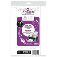 "Thermoweb HeatnBond EZ-Print Lite Iron-On Adhesive-8.5""X11"" 10/Pkg, 3358"