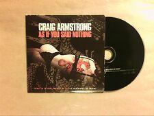 RARE CD PROMO 1 TITRE / CRAIG ARMSTRONG / AS IF YOU SAID NOTHING / TRES BON ETAT