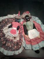 "Vintage Caribbean Black Folk Art Doll  - Handmade  16"" Souvenir Cloth Doll 1960s"