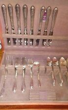 Wm. Rogers & Son Exquisite 1940 Silverplate Flatware Set 47