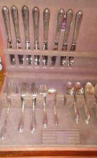 Wm. Rogers & Son Exquisite 1940 Silverplate Flatware Set 47