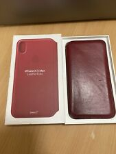 Apple iPhone XS Max Folio Red Leather Case (Product Red)