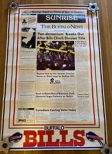 Buffalo Bills / Buffalo New 1988 AFC East Fan-demonium Poster