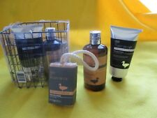 NEW Fuzzy Duck men's grooming basket. soap aftershave balm body wash shower gel+