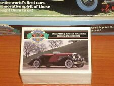 100 Antique Cars 1st Collectors Edition Set Of Trading Cards By Panini w/Box