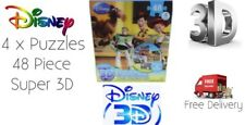 Childrens Disney Pixar 3D Effect 4 Puzzle Pack Toy Story Cars Nemo WallE New