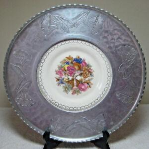 "Vintage 1960s Farberware Limoges 11"" Platter Imperial Victorian Pattern Floral"
