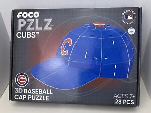 Foco MLB Licensed Chicago Cubs Baseball Hat 3D Puzzle 28 Pieces NEW Open Box
