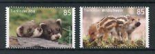 Germany 2017 MNH Baby Wild Animals Polecat Wild Boar 2v Set Stamps