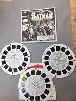 Vintage Viewmaster Reels Batman With Booklet And Three Reels