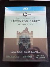 Masterpiece: Downton Abbey - Season 1, 2 & 3 Blu Ray *Brand New Sealed*