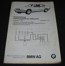 Werkstatthandbuch Elektrik BMW 5er E 34 / E34 Alarmanlage Getriebe Tacho 1991!