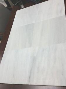 Bianco Ibiza Brushed Marble Tile  12 x 12 x 3/8  Natural Stone 50 Sq.Ft
