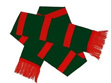 STRIPED KNIT KNITTED PATTERN FC FOOTBALL CLUB RED AND GREEN SCARF SCARVES