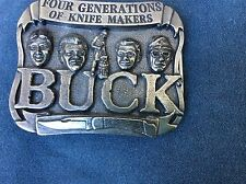 BUCK KNIVES BELT BUCKLE FOUR GENERATION KNIFE MAKERS