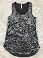 Gray Racerback Tank Top Xhilaration Sz XS Full Sequin Front Sleeveless Juniors