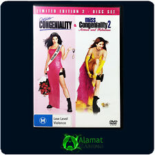 Miss Congeniality 1 & 2 (DVD) 2 Movie Pack - Sandra Bullock - Comedy - Crime