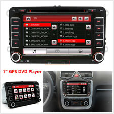 "7"" 2DIN HD Touch Screen Car GPS Navigation Stereo FM Radio DC DVD Player For VW"