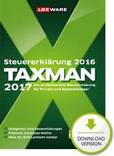 Lexware TAXMAN 2017 (für Steuerjahr 2016)  Win ESD Download-Lizenz / KEY