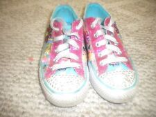 SKECHERS TWINKLE TOES LIGHT-UP SHOES WMLT Multi-Color  Girls Size 2