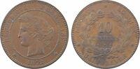 IIIe République, 10 centimes Cérès, 1872 Bordeaux - 18