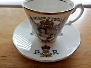 CORONATION CUP AND SAUCER - QUEEN ELIZABETH II 1953 - photograph by MARCUS ADAMS