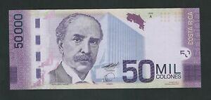 COSTA RICA  50.000 , 50000 COLONES 2009  RARE  UNC