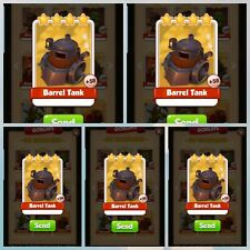 Barrel Tank X5 pack - Coin Master - Immediate Delivery