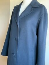 Max Mara Weekend Handmade Double Faced Coat Navy In Sz 36
