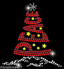 Christmas Tree Rhinestone Transfer Holiday Bling Applique Peace