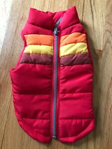 NEW Red Puffy Dog Pet Vest Coat Jacket, Size Small