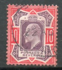 1902 SG256a SPEC M43 (5), 10d Dull purple and Scarlet No Cross on Crown