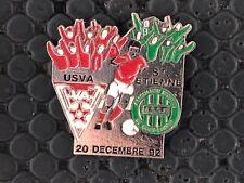 PINS BADGE FOOTBALL SOCCER ASSE SAINT ETIENNE VS USVA 1992